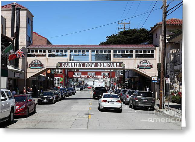 Monterey Canning Company Greeting Cards - Monterey Cannery Row California 5D25032 Greeting Card by Wingsdomain Art and Photography