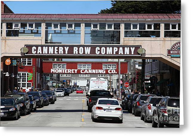 Monterey Canning Company Greeting Cards - Monterey Cannery Row California 5D25034 Greeting Card by Wingsdomain Art and Photography