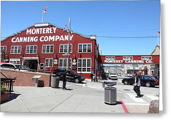 Monterey Canning Company Greeting Cards - Monterey Cannery Row California 5D25037 Greeting Card by Wingsdomain Art and Photography