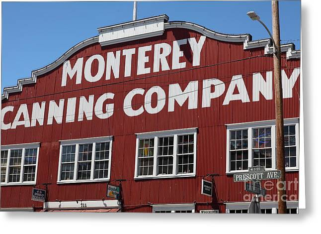 Monterey Canning Company Greeting Cards - Monterey Cannery Row California 5D25039 Greeting Card by Wingsdomain Art and Photography