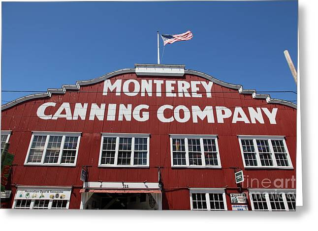 Monterey Canning Company Greeting Cards - Monterey Cannery Row California 5D25040 Greeting Card by Wingsdomain Art and Photography