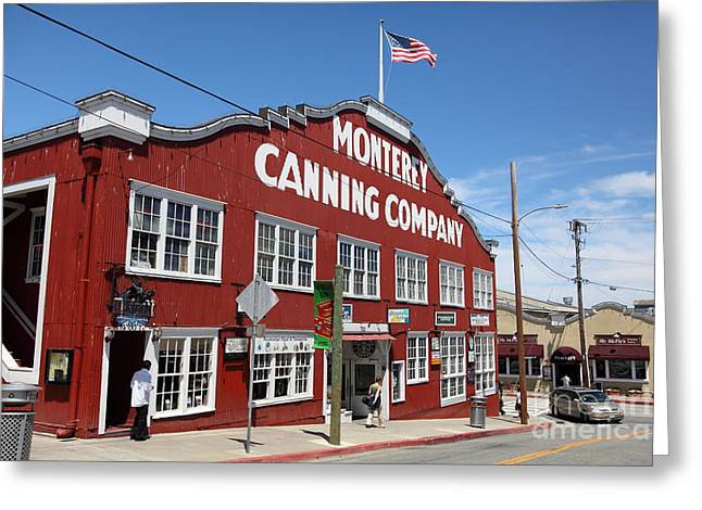 Monterey Canning Company Greeting Cards - Monterey Cannery Row California 5D25045 Greeting Card by Wingsdomain Art and Photography
