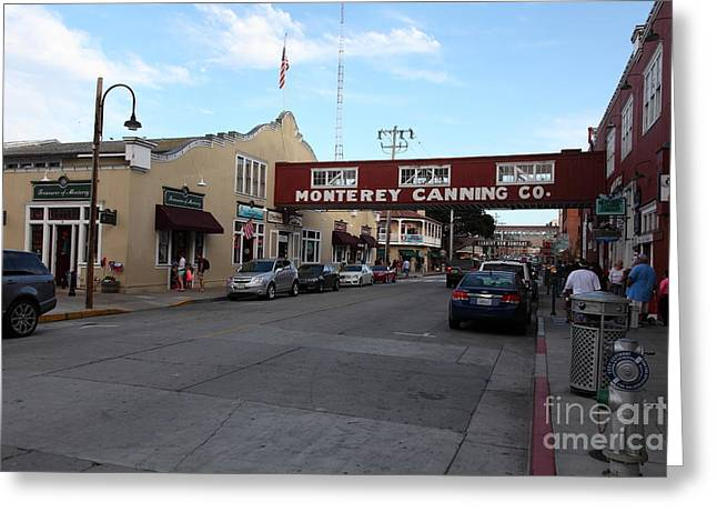 Monterey Canning Company Greeting Cards - Monterey Cannery Row California 5D25135 Greeting Card by Wingsdomain Art and Photography