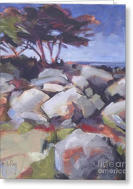 Point Lobos Greeting Cards - Monterey Cypress Greeting Card by Mary Hubley