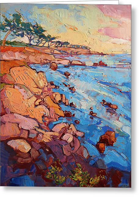 Erin Greeting Cards - Monterey Rock Greeting Card by Erin Hanson