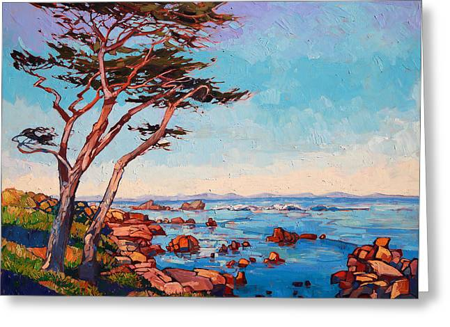 Monterey Greeting Cards - Monterey Wisps Greeting Card by Erin Hanson