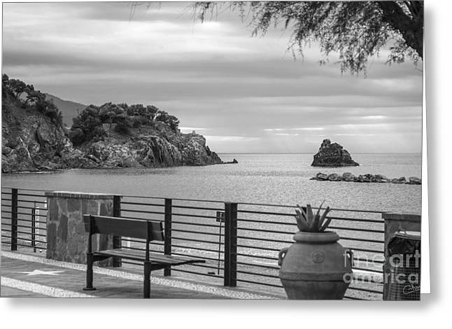 Monterosso Greeting Cards - Monterosso al Mare Harbor Greeting Card by Prints of Italy