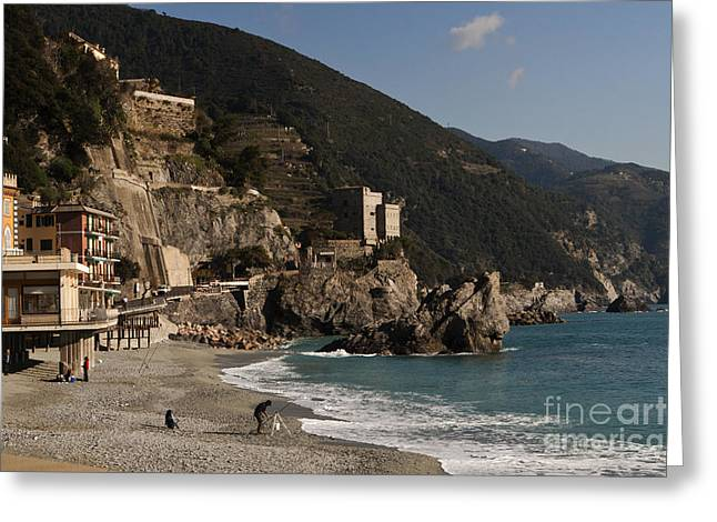 Leslie Leda Greeting Cards - Monterosso al Mare Greeting Card by Leslie Leda