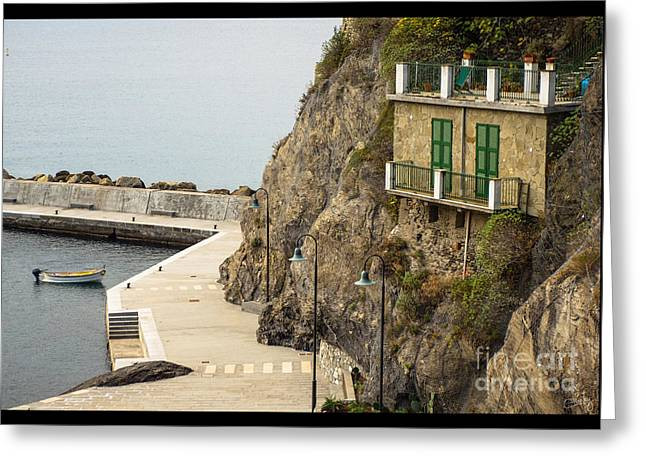 Monterosso Greeting Cards - Monterosso Harbor Details Greeting Card by Prints of Italy