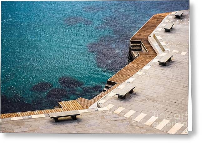 Monterosso Greeting Cards - Monterosso Pier Greeting Card by Prints of Italy