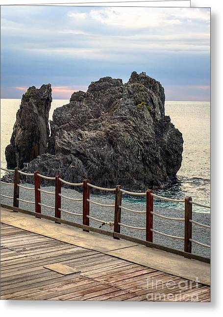 Monterosso Greeting Cards - Monterosso View Greeting Card by Prints of Italy