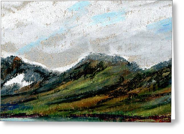 Reserve Pastels Greeting Cards - Montes Arcticum - The Arctic Mountains Greeting Card by R Kyllo