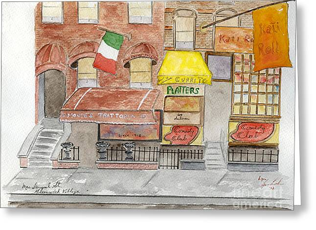 Greenwich Village Greeting Cards - Montes on MacDougal Street Greeting Card by Lynn Lieberman