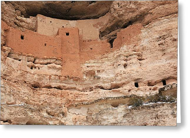 Montezuma Greeting Cards - Montezuma Castle 2 Greeting Card by Donna Kennedy