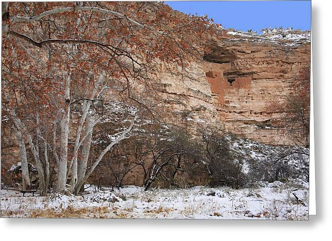 Sinagua Greeting Cards - Montezuma Castle Greeting Card by Donna Kennedy
