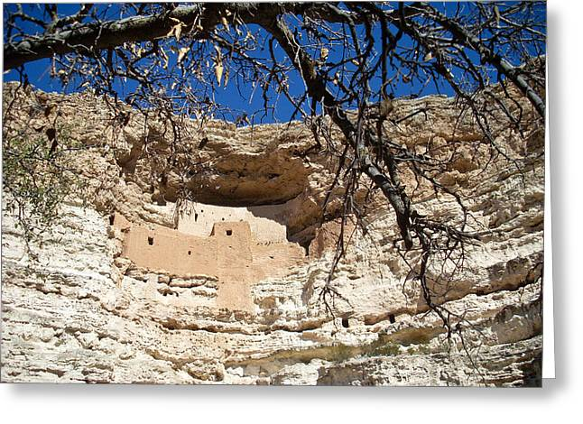 Montezuma Greeting Cards - Montezuma Castle National Monument 1 Greeting Card by Douglas Barnett