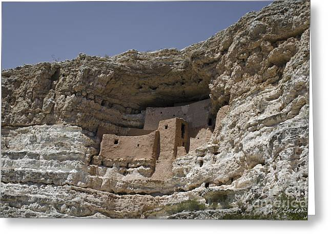 Montezuma Greeting Cards - Montezuma Castle No. 2 Greeting Card by David Gordon