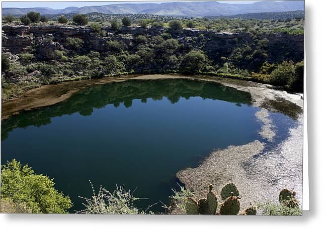 Montezumas Well Greeting Cards - Montezuma Well Greeting Card by Ivete Basso