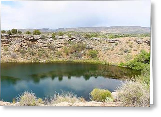 Montezumas Well Greeting Cards - Montezuma Well Greeting Card by Joel Terrell