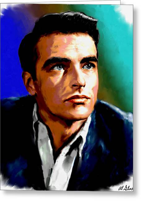 Allen Glass Greeting Cards - Montgomery Clift Greeting Card by Allen Glass