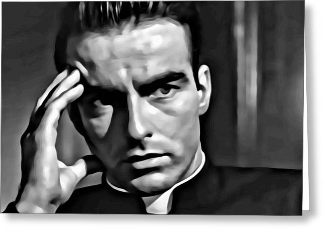 Montgomery Greeting Cards - Montgomery Clift Greeting Card by Florian Rodarte