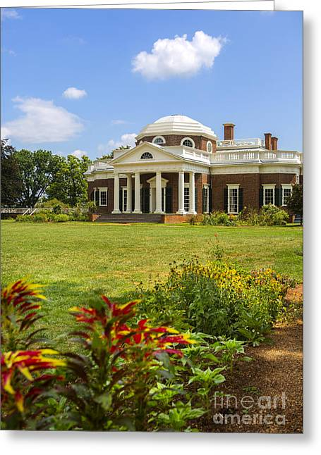 Monticello Greeting Cards - Monticello Greeting Card by Diane Diederich