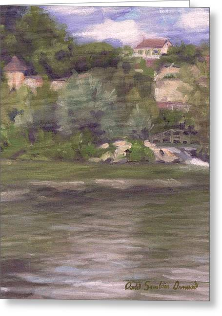 Paysage A L Greeting Cards - Montigny-sur-Loing Greeting Card by David Ormond