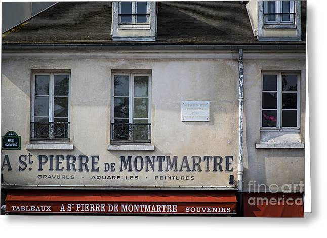 Historic Home Greeting Cards - Montmarte Home Greeting Card by Brian Jannsen