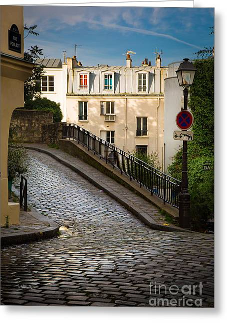 Europa Greeting Cards - Montmartre Alley Greeting Card by Inge Johnsson