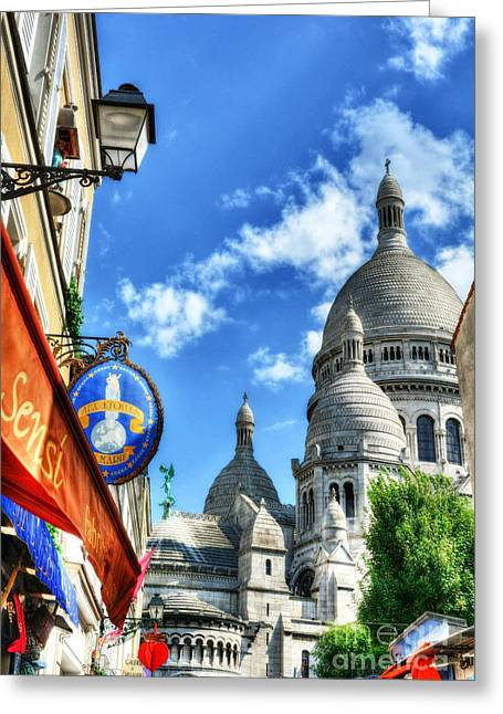 Couer Greeting Cards - Montmartre In Paris 3 Greeting Card by Mel Steinhauer