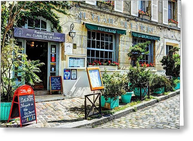 European Restaurant Greeting Cards - Montmartre In Paris 7 Greeting Card by Mel Steinhauer