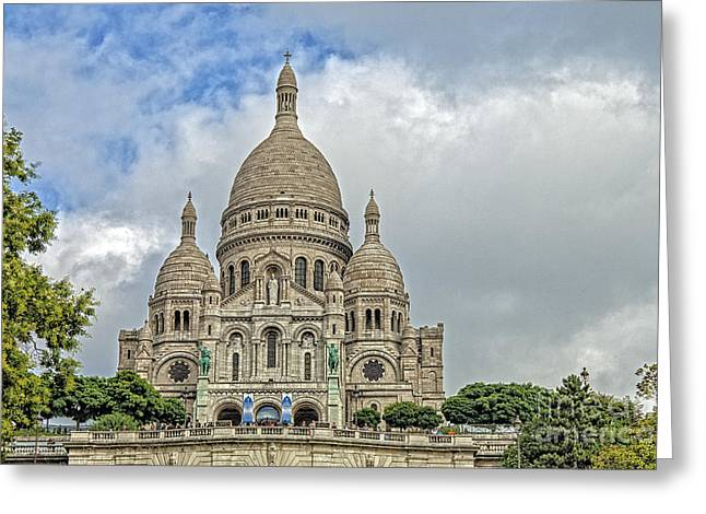 Royalty Pyrography Greeting Cards - Montmartre Greeting Card by Mauro Celotti