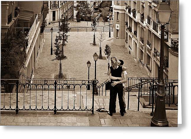 Brown Tones Greeting Cards - Montmartre Moment Greeting Card by Nikolyn McDonald