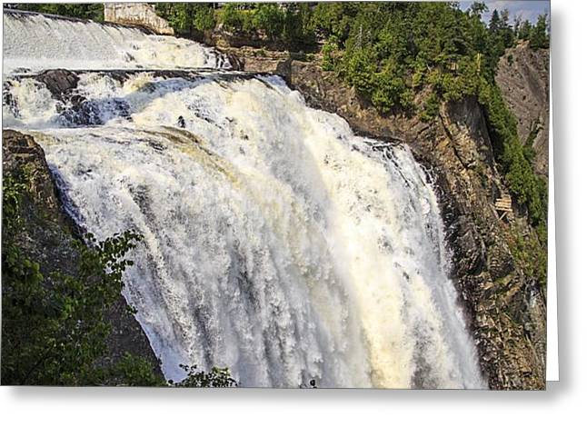 Montmorency Falls Park Quebec City Canada Greeting Card by Edward Fielding
