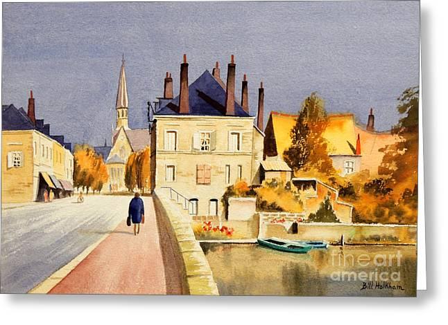 Gaul Greeting Cards - Montoire Sur-le-Loir Greeting Card by Bill Holkham