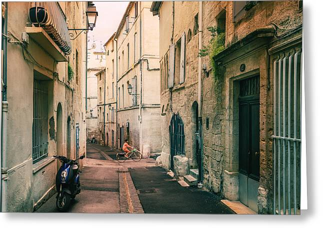 Montpellier - France - Street In The Afternoon Greeting Card by Vivienne Gucwa