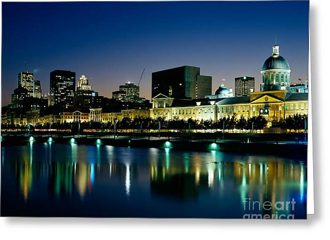 Old Montreal Greeting Cards - Montreal And The St. Lawrence River Greeting Card by Rafael Macia