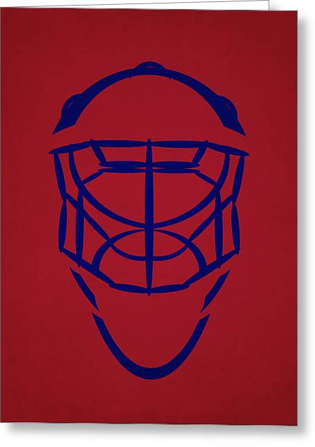 Montreal Canadiens Greeting Cards - Montreal Canadiens Goalie Mask Greeting Card by Joe Hamilton