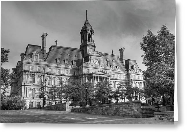 Montreal City Hall  Montreal, Quebec Greeting Card by David Chapman
