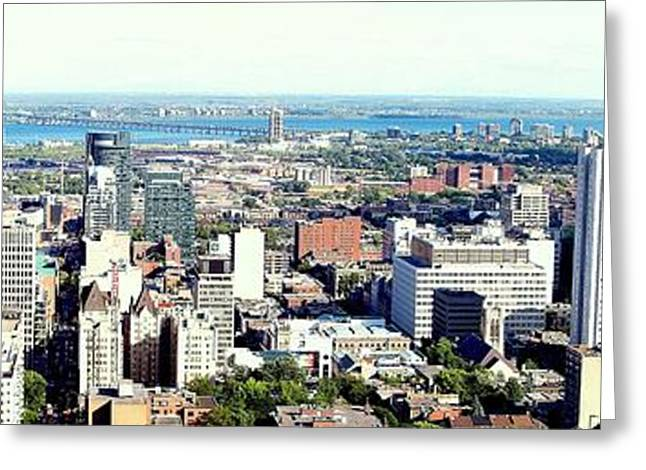 Montreal City View From Mont Royal Greeting Card by Lingfai Leung