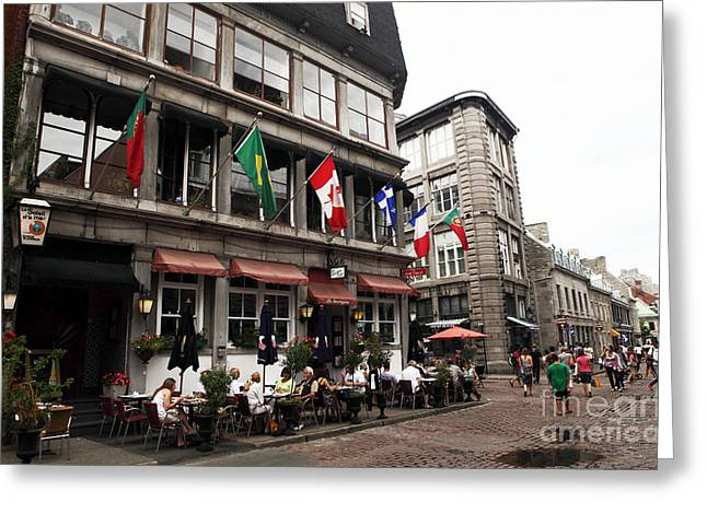 Montreal Restaurants Greeting Cards - Montreal Lunch Greeting Card by John Rizzuto