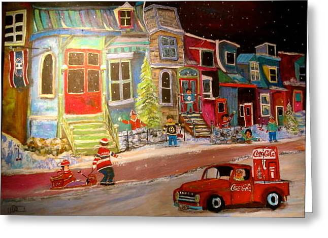 Litvack Greeting Cards - Montreal Memories of Street of Icons Greeting Card by Michael Litvack