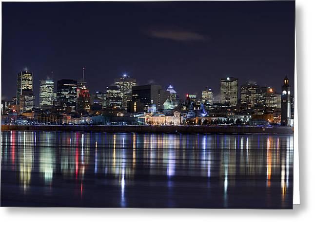 Montreal Night Greeting Card by Yuppidu