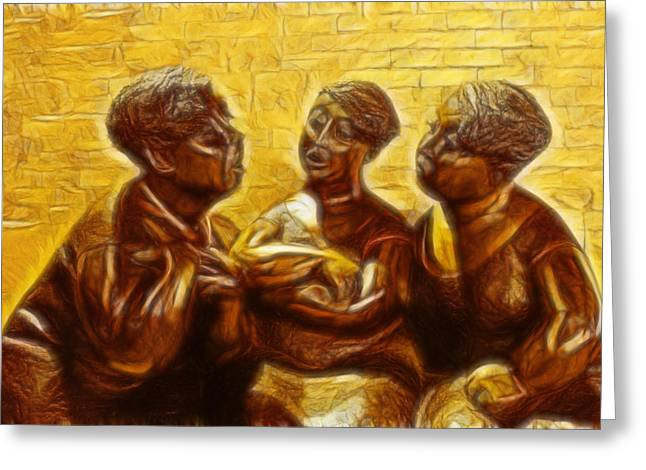 Sculpture Ideas Greeting Cards - Montreal - The Gossip Girls Greeting Card by Lee Dos Santos