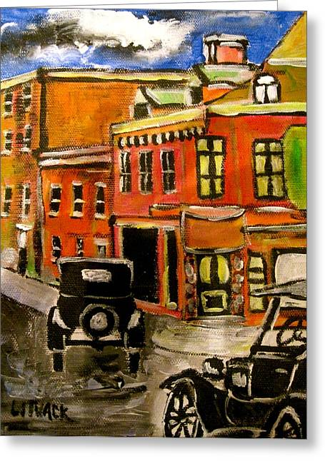 Michael Litvack Greeting Cards - Montreal Then Greeting Card by Michael Litvack