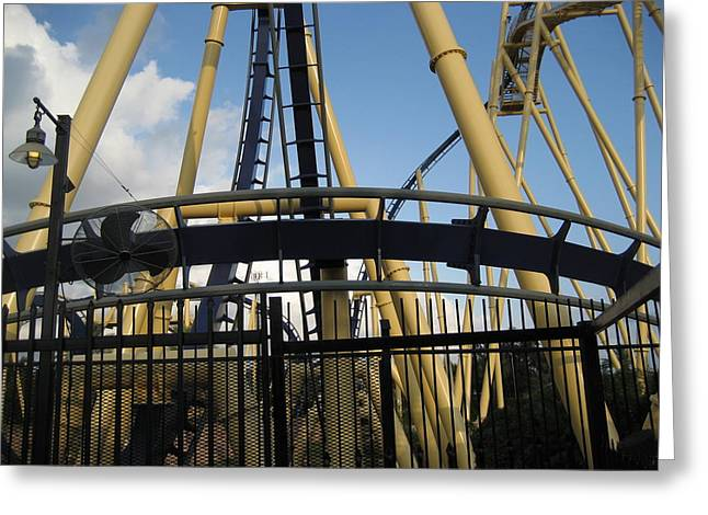 Of Greeting Cards - Montu Roller Coaster - Busch Gardens Tampa - 011310 Greeting Card by DC Photographer
