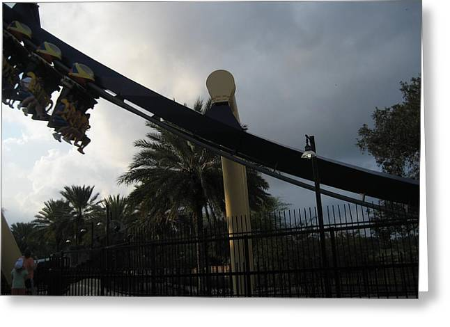 Coaster Greeting Cards - Montu Roller Coaster - Busch Gardens Tampa - 01138 Greeting Card by DC Photographer
