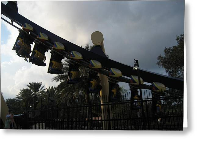 Montu Roller Coaster - Busch Gardens Tampa - 01139 Greeting Card by DC Photographer