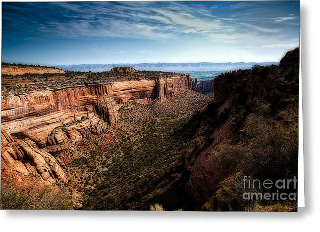 The Plateaus Greeting Cards - Monument Canyon and Saddlehorn Greeting Card by Jon Burch Photography