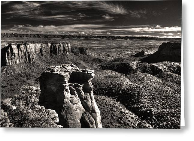 Monolith Greeting Cards - Monument Canyon Monolith Greeting Card by William Fields